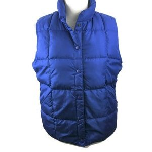 LANDS' END Down Quilted Puffer Vest Women's S